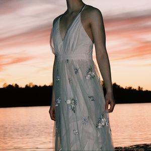 (lulu's) lorenzo beige embroidered maxi dress